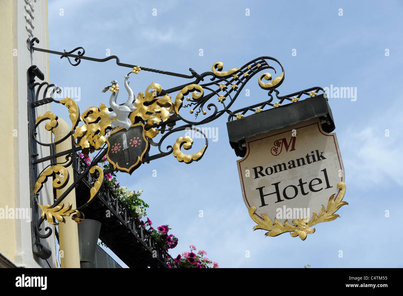 Dekorative Hotel in Bamberg Bayern Deutschland Stockbild
