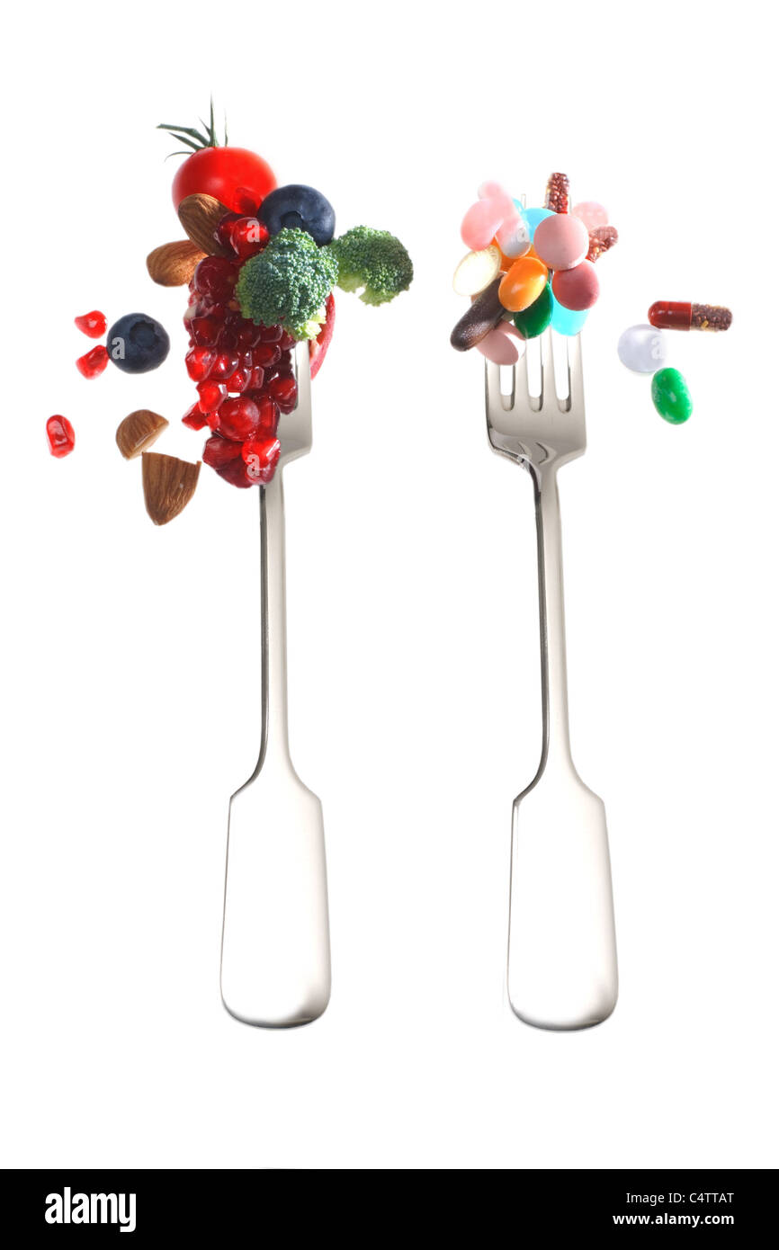 Obst und Vitamine Stockbild