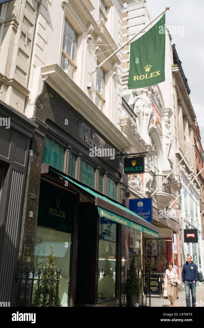 Schmuck shop schweiz  London, Mayfair, Bond Street Uhren der Schweiz Rolex-Uhren ...