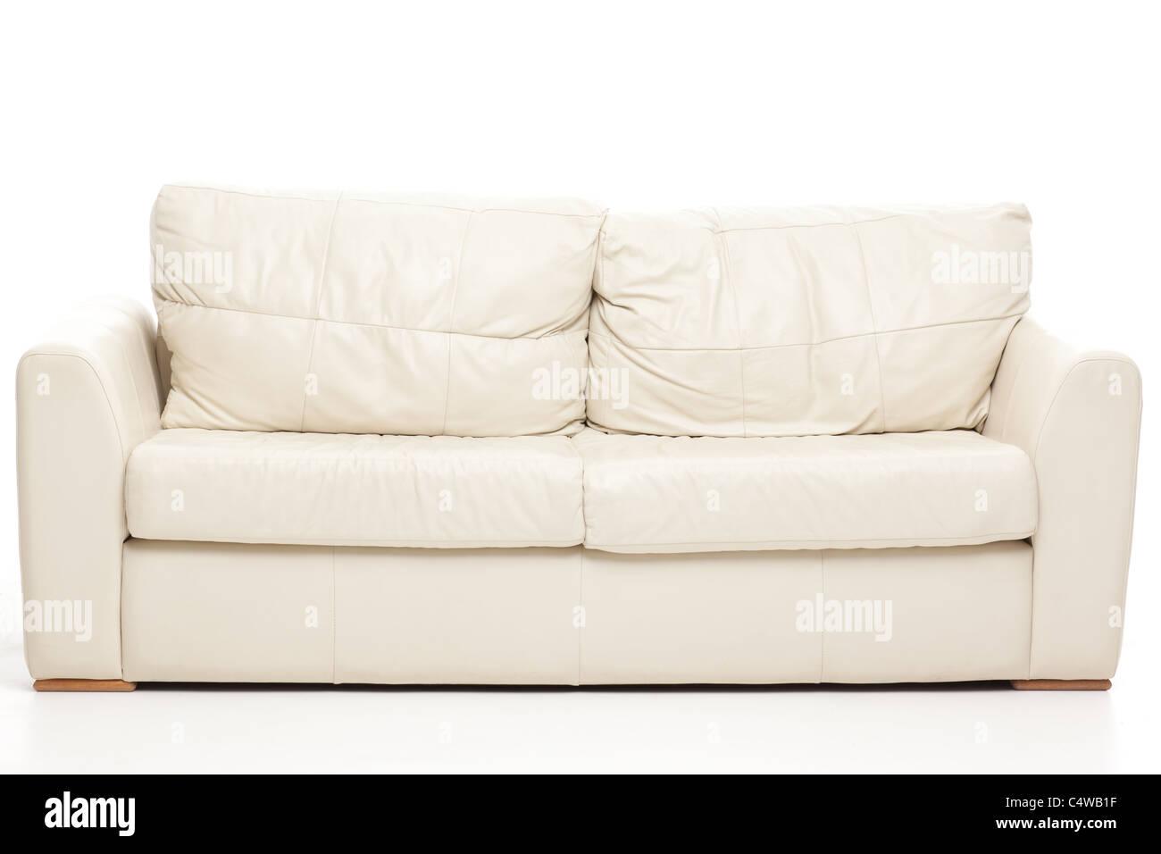 einfaches Stillleben Studioaufnahme von eine moderne couch Stockbild
