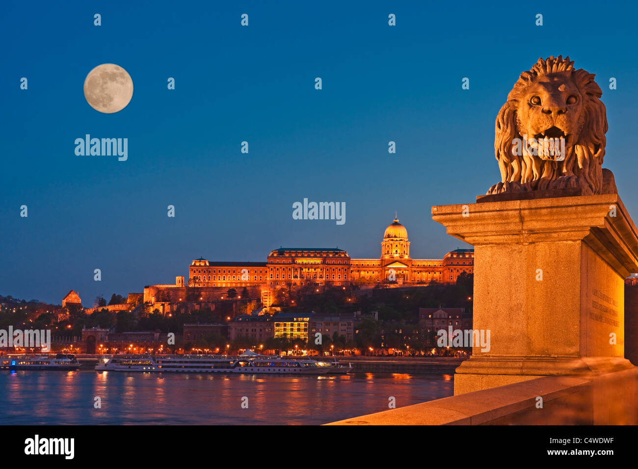 Budaer Burg in Budapest, Ungarn, Europa Stockbild