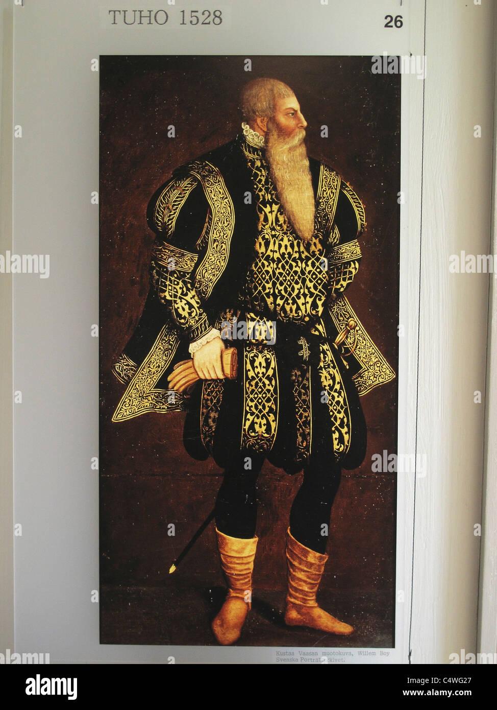 Scandinavia Finnland finnische historischen Tuho 1528 Stockbild