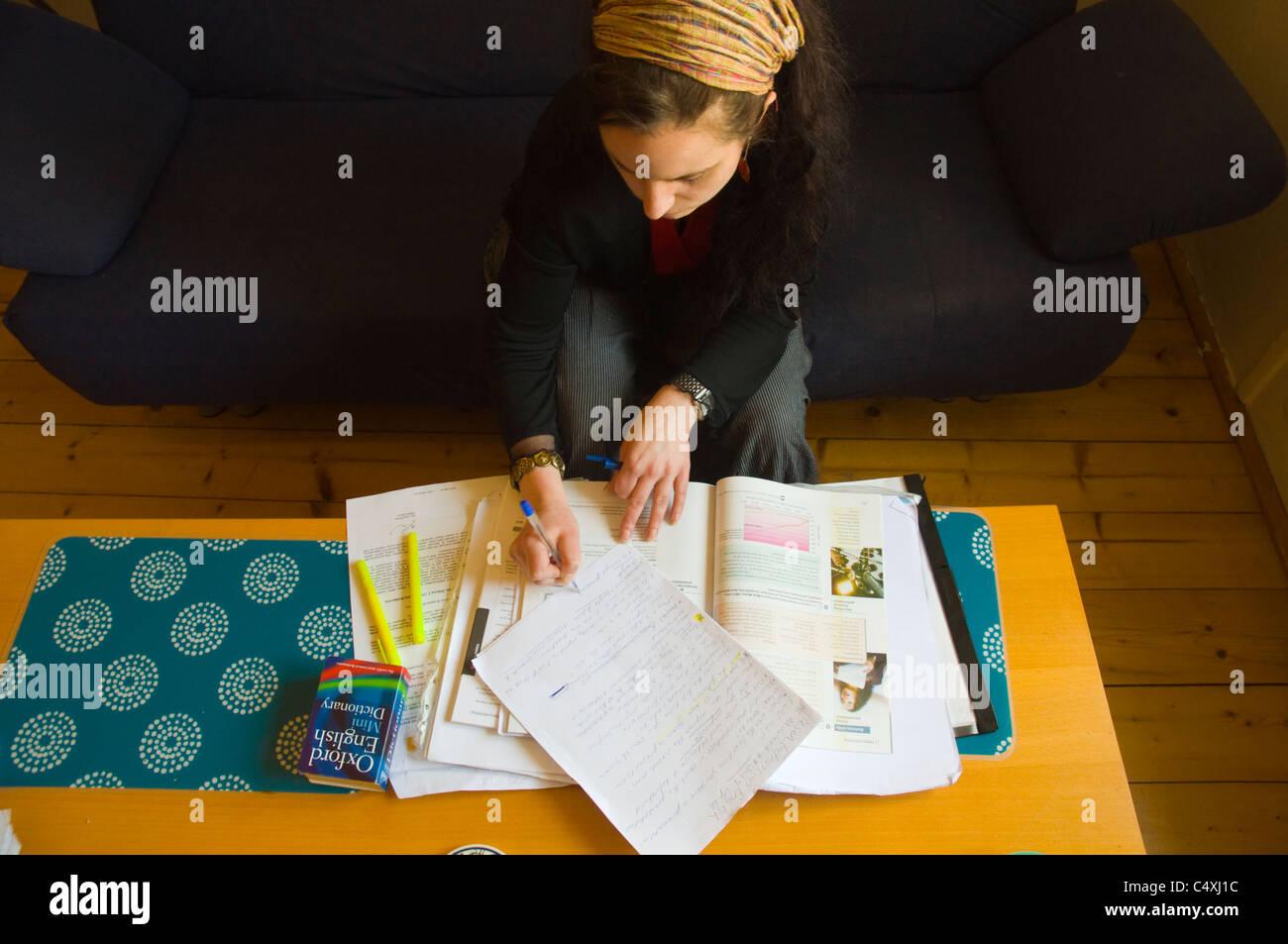 Englischer-Lehrer planen Unterricht Prag Tschechische Republik Europa Stockbild