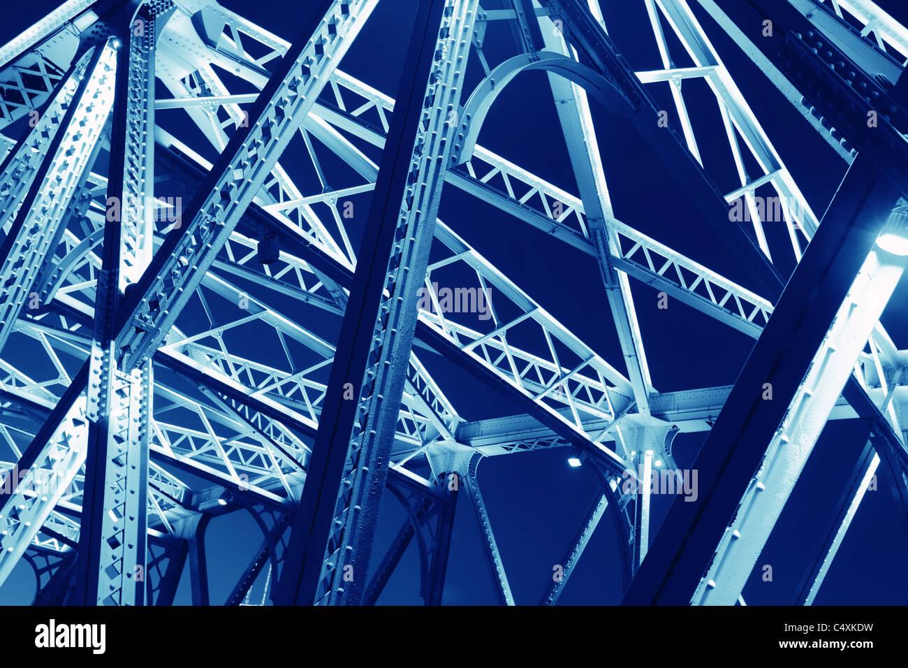 Stahlkonstruktion für den Einsatz als Hintergrund Stockbild