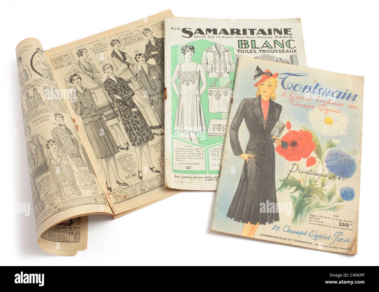 b74ff04c538e21 Vintage Vorkriegs-französische Mode Versandhandel Kataloge Stockfoto ...