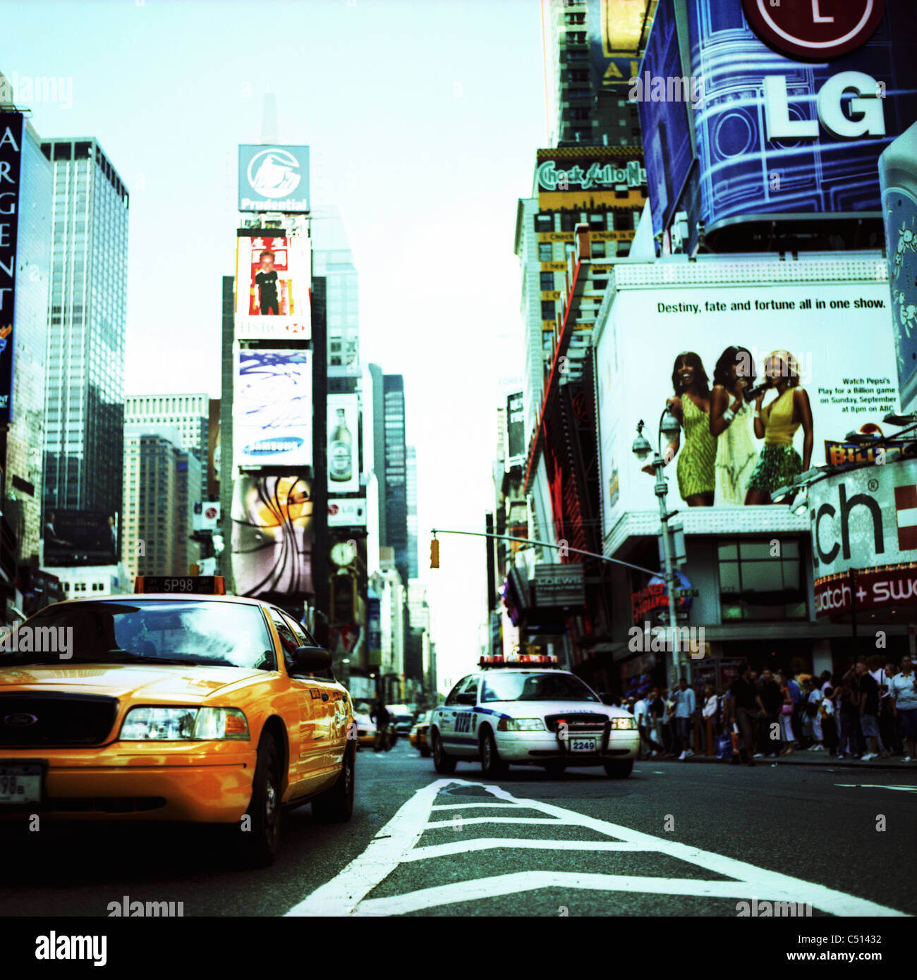 Belebte Straße, Times Square, Manhattan, New York City, USA Stockbild