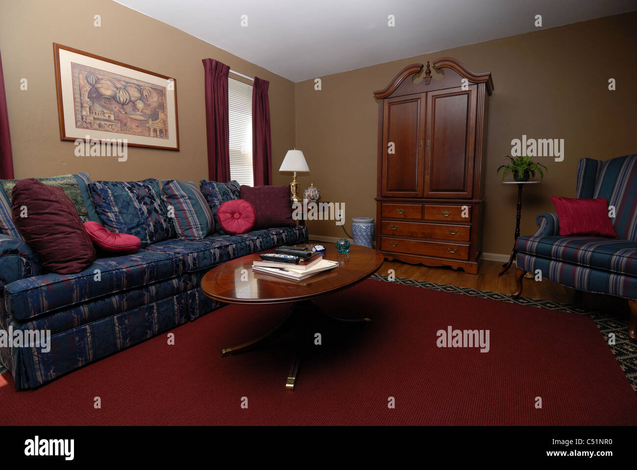 Wide Angle Shot Interior Home Stockfotos & Wide Angle Shot Interior ...