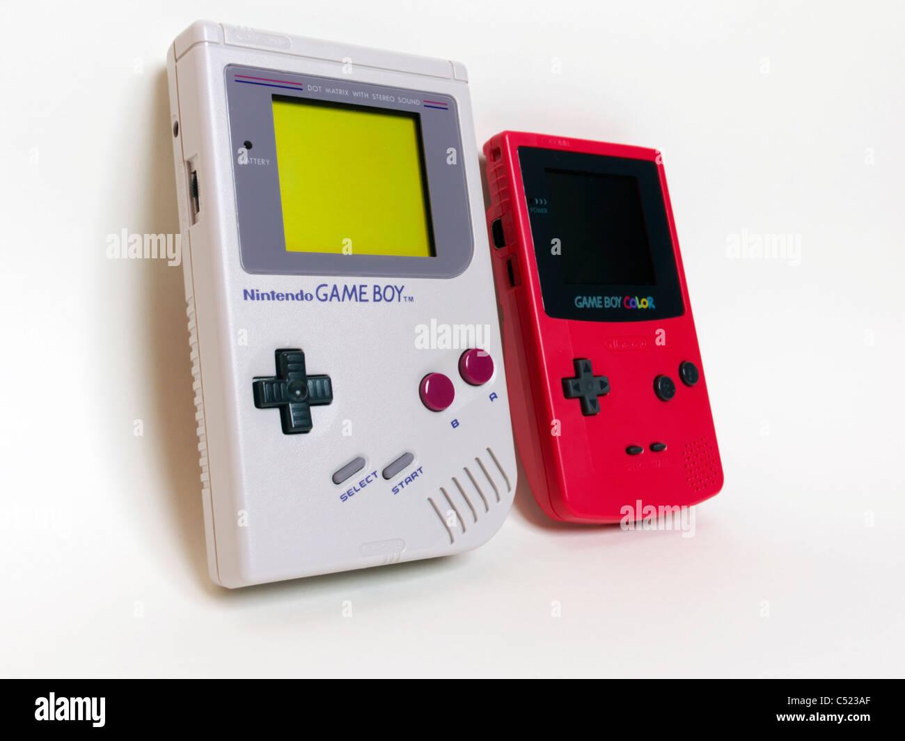 Nintendo Game Boy und Game Boy Color Stockbild