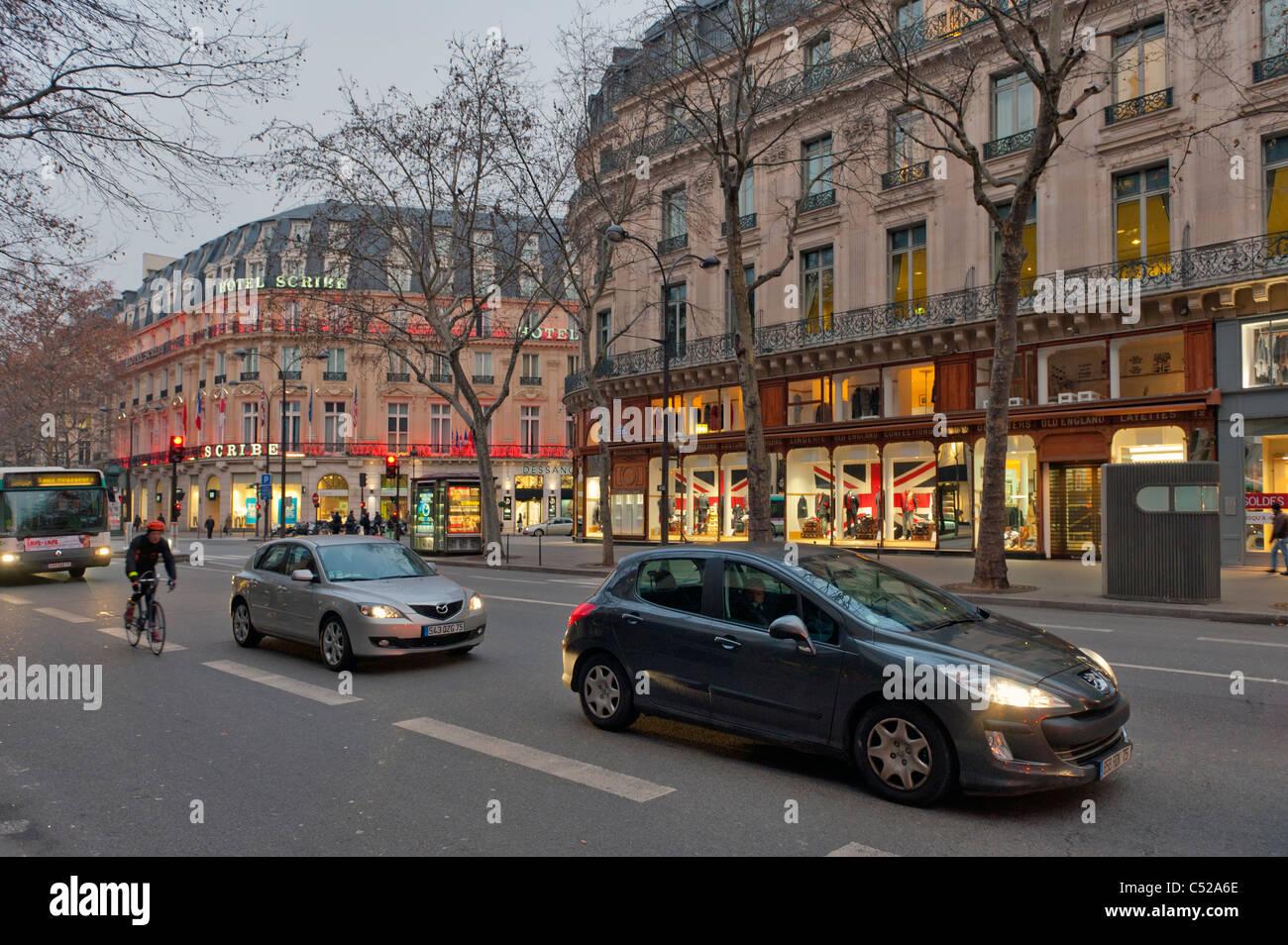 Boulevard des Italiens Paris Frankreich Stockbild