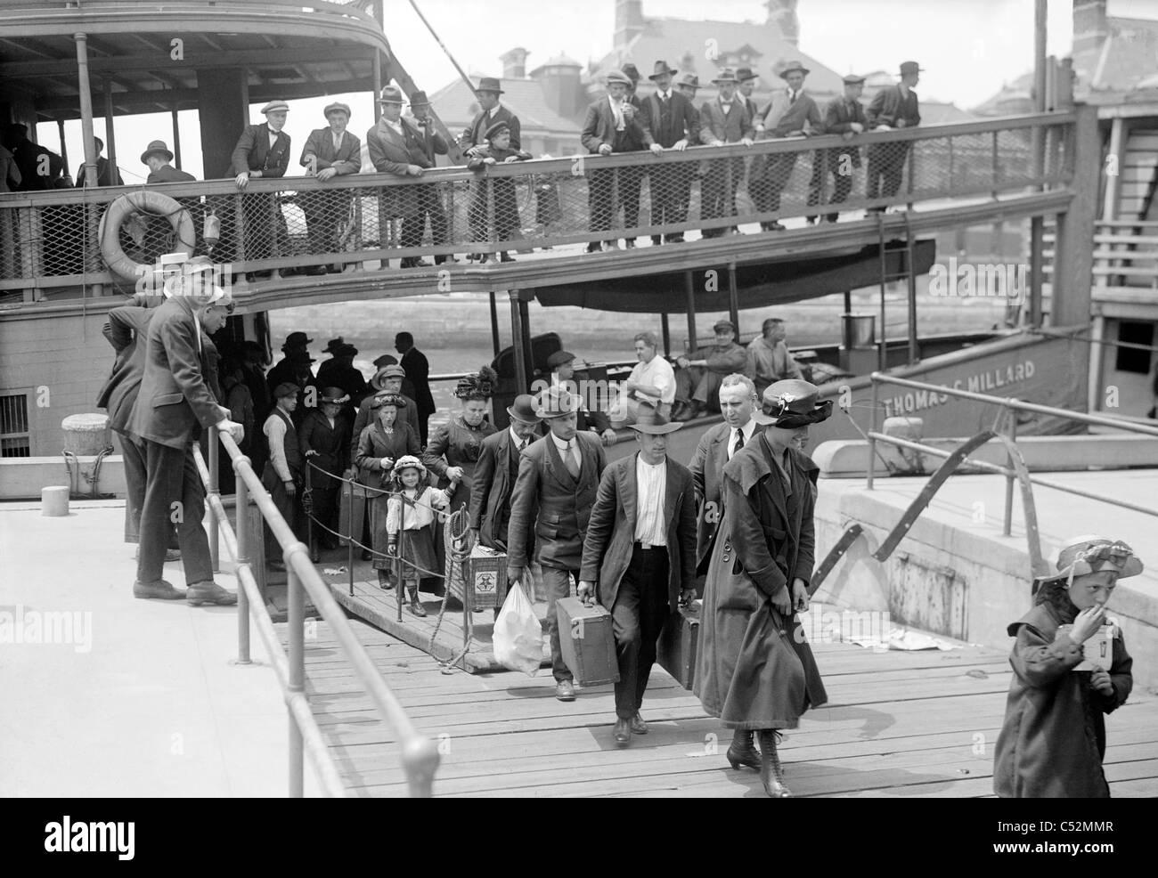 New York Ellis Island Immigrats