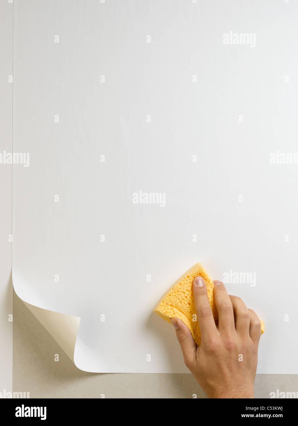 Hängende wallpaper Stockbild