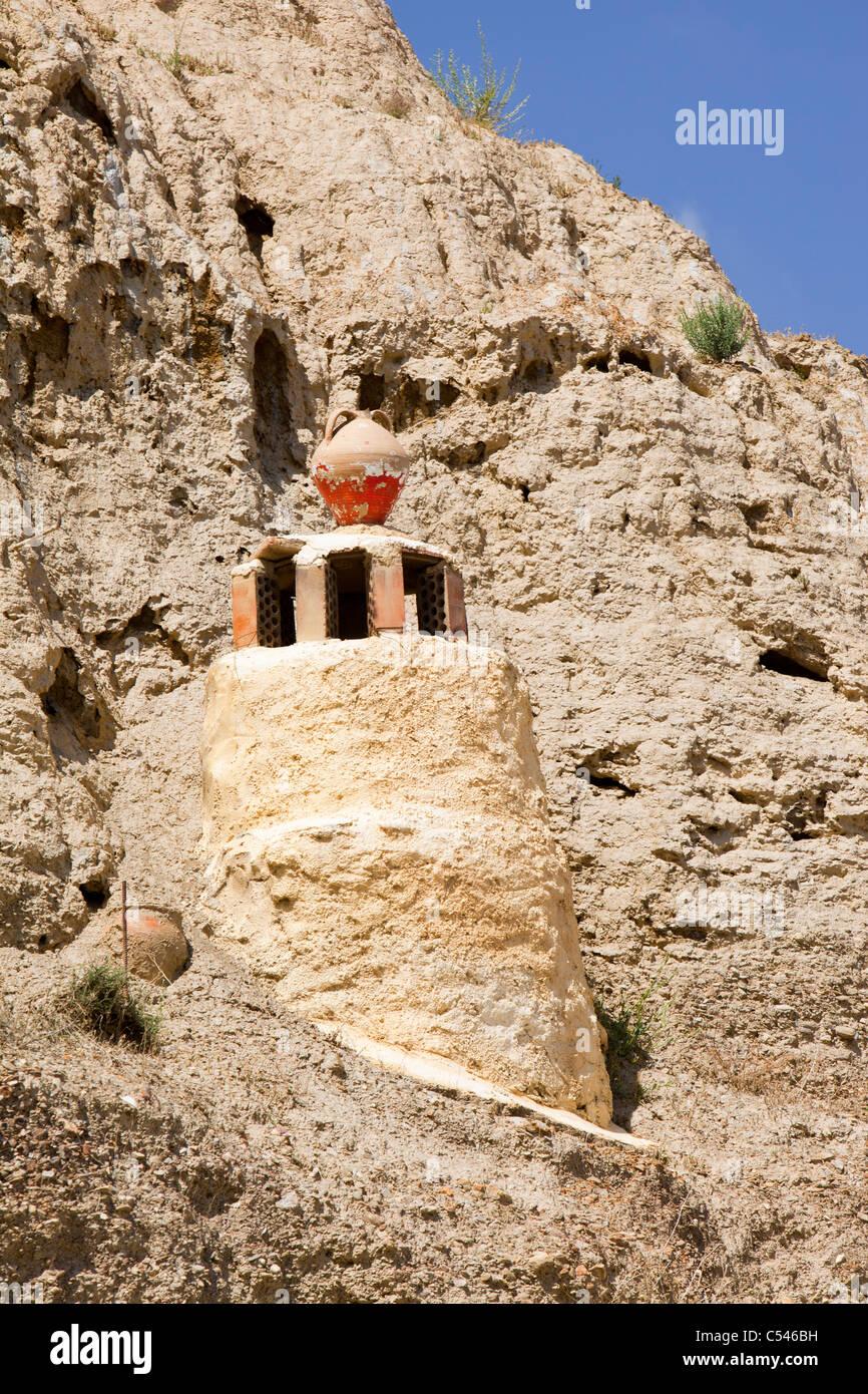 Alte Höhle Häuser in Guadix, Andalusien, Spanien. Bis zu 10.000 ...