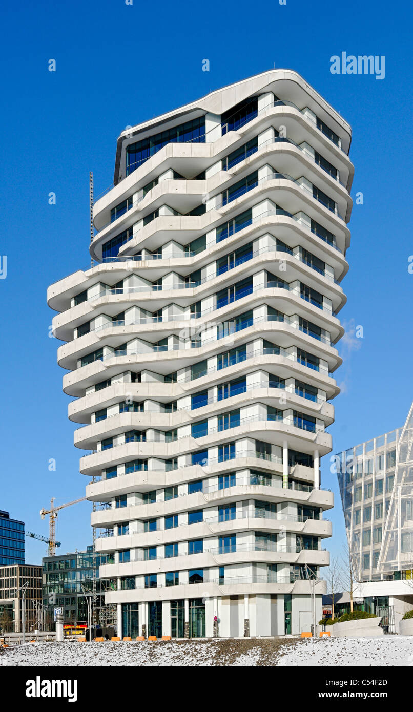 Architektur, MARCO-POLO-TOWER, Grosser Grasbrook, Stadtteil ...