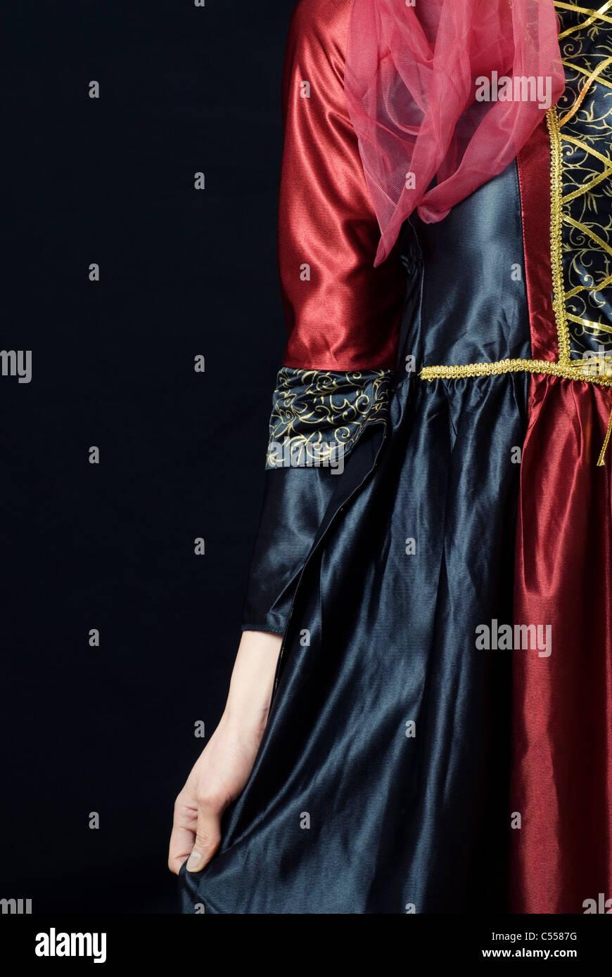 Viktorianischen Kleid Stockbild