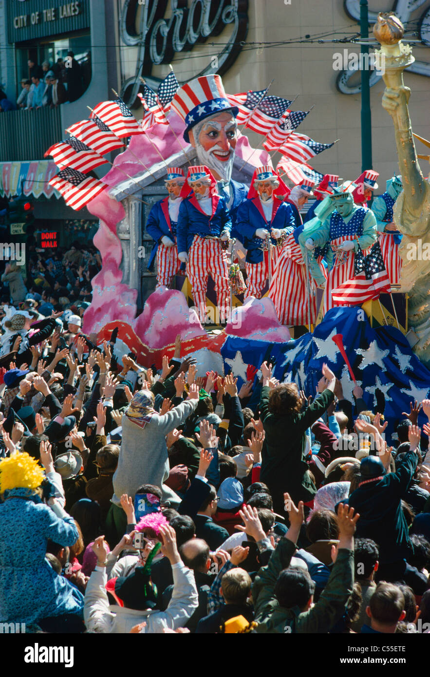 USA, Louisiana, New Orleans, Karneval parade Stockbild