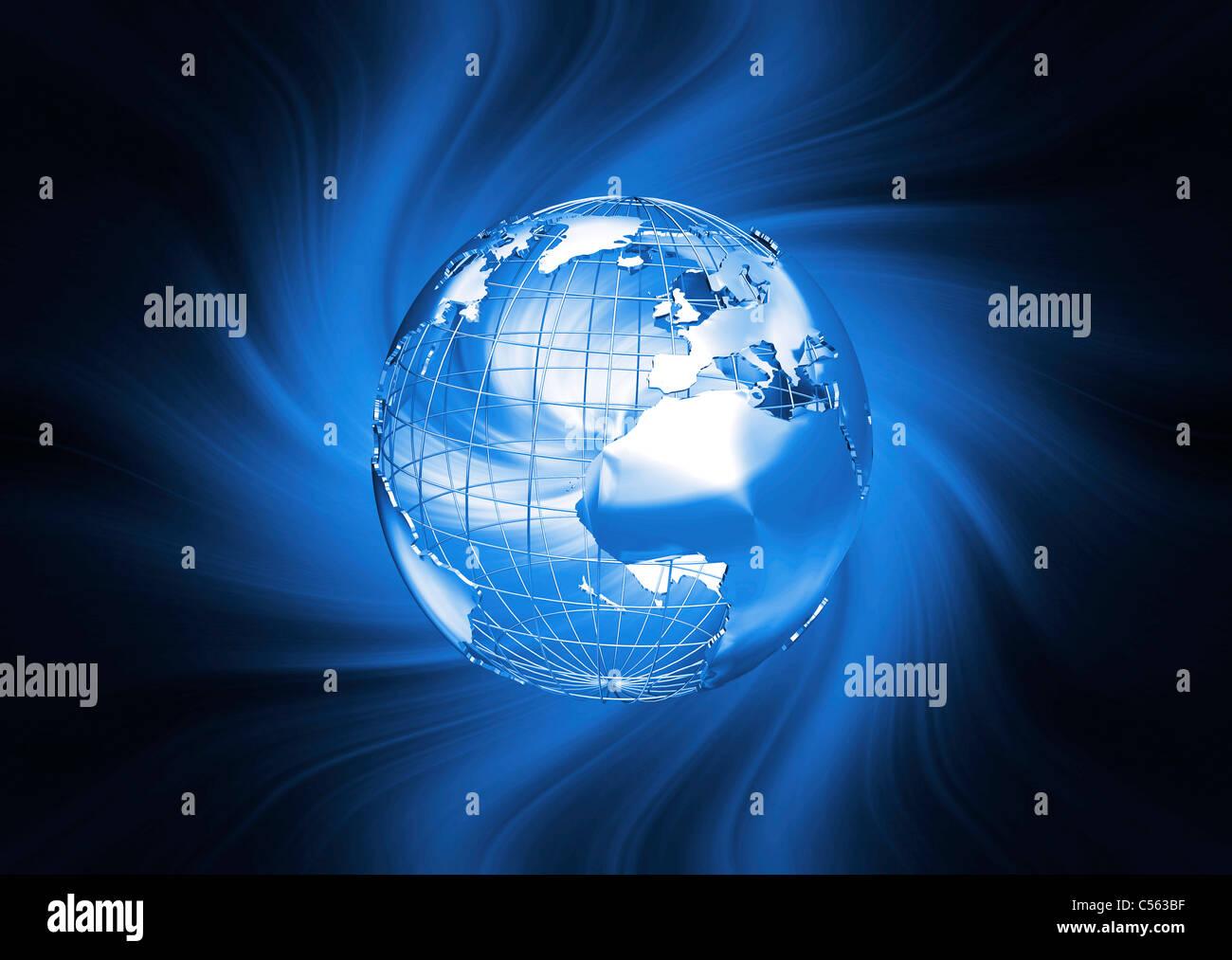 Ziemlich Ovale Draht Globus Clipart Zeitgenössisch - Elektrische ...