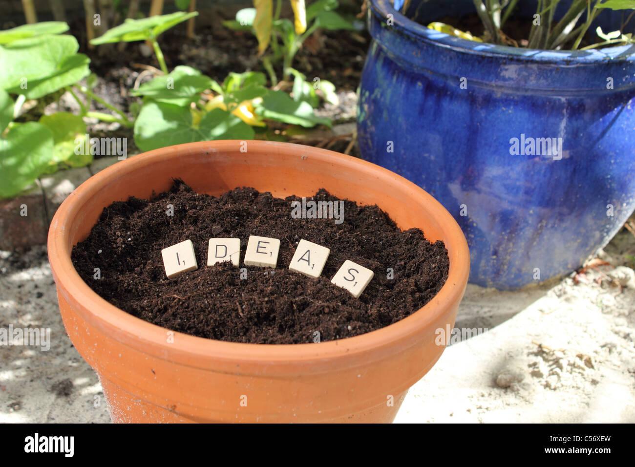 Anpflanzung von Ideen Stockbild