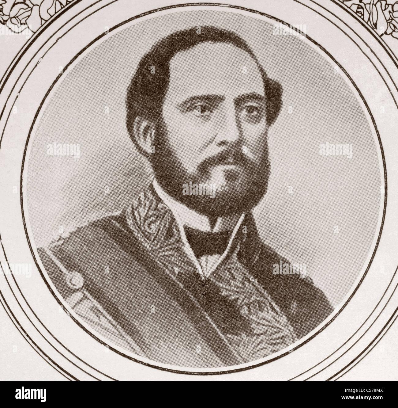 Juan oder Joan Prim. 1814 - 1870. Bekannt in katalanischer Sprache als Joan Prim i Prats. Katalanische Soldat und Stockbild
