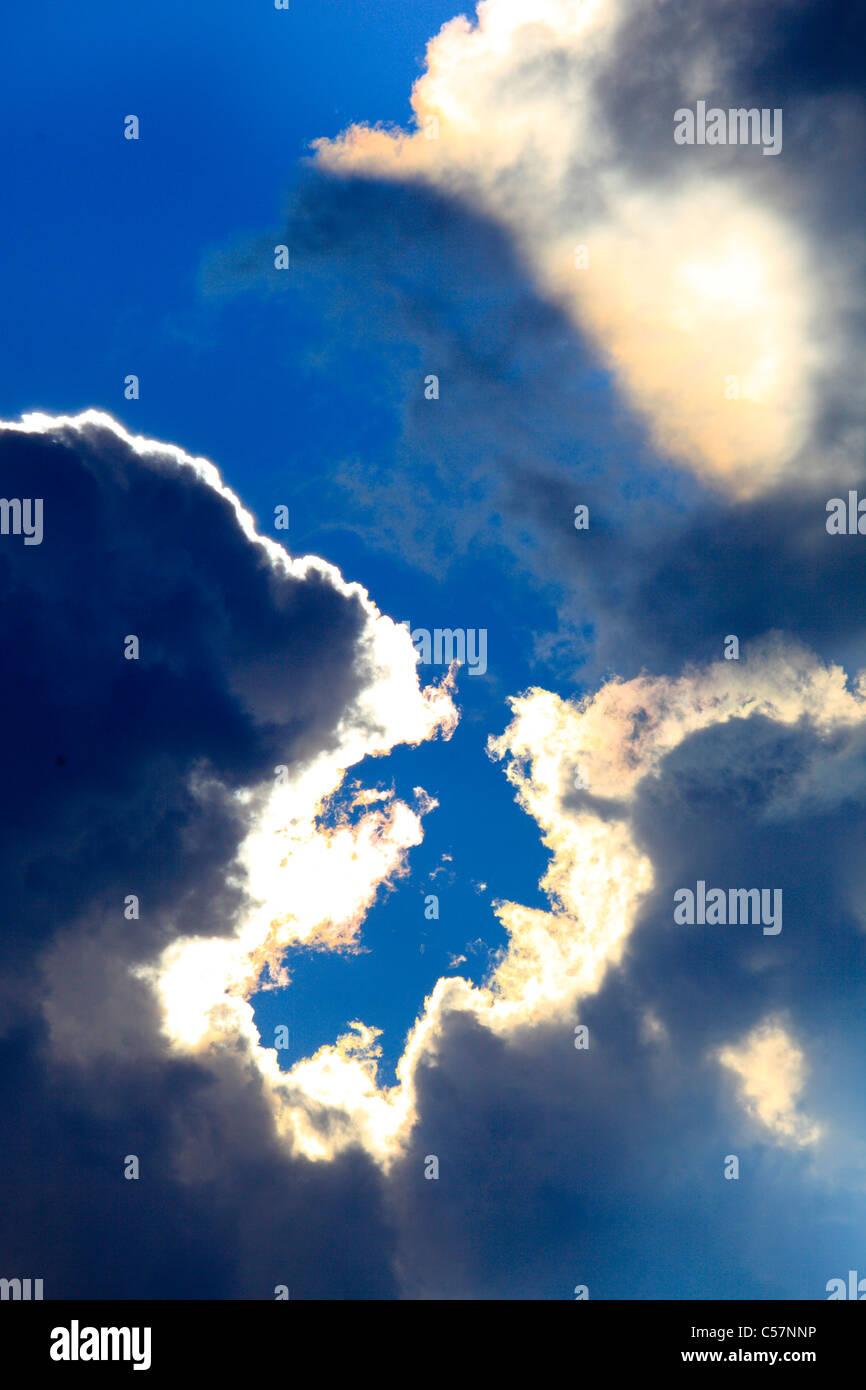 Gewitter, Himmel, Muster, Probe, Regen, Sonne, Sonnenstrahlen ...