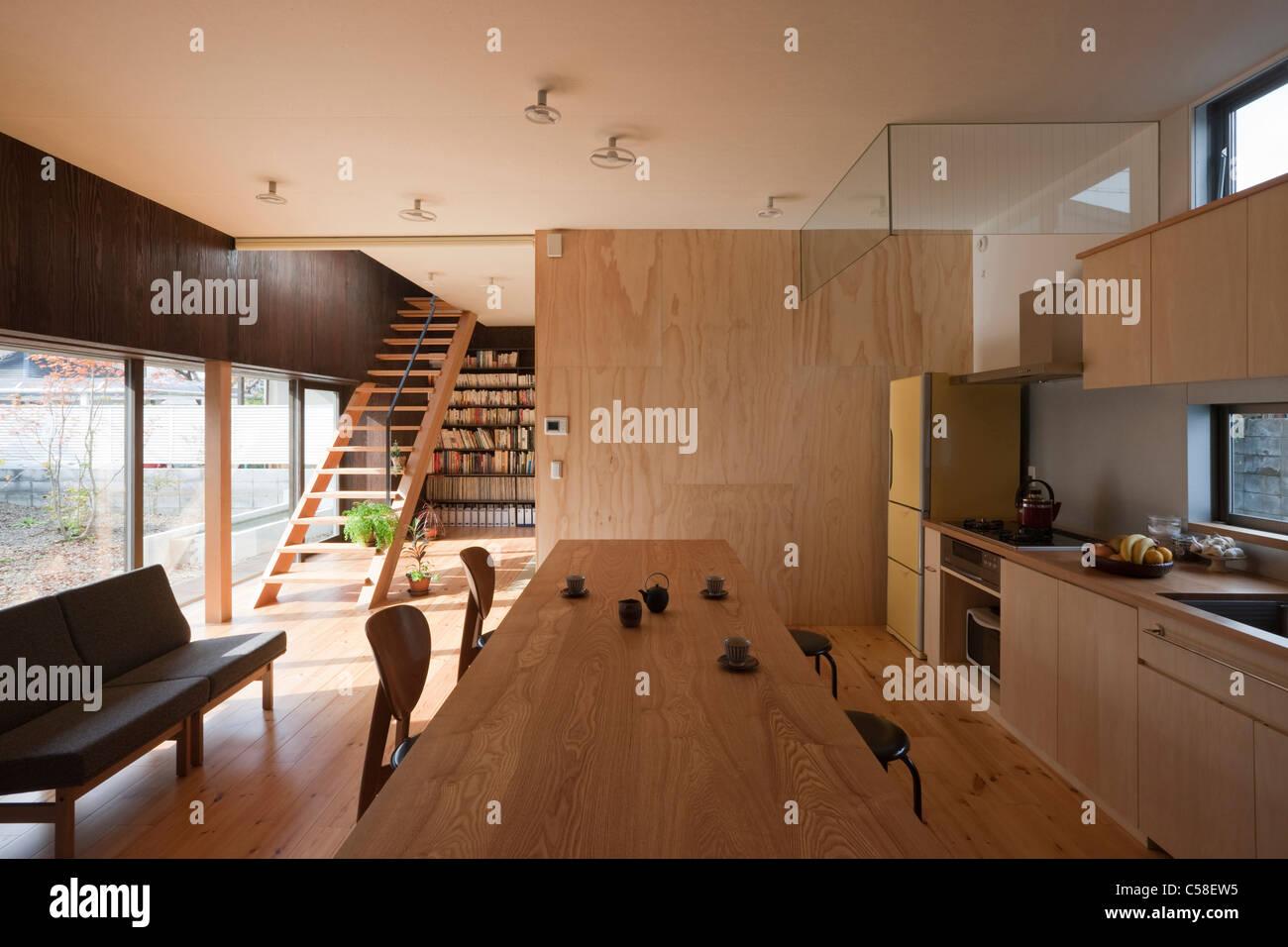 Matsugasaki-So, Appartementhaus, offene Küche und Esszimmer ...