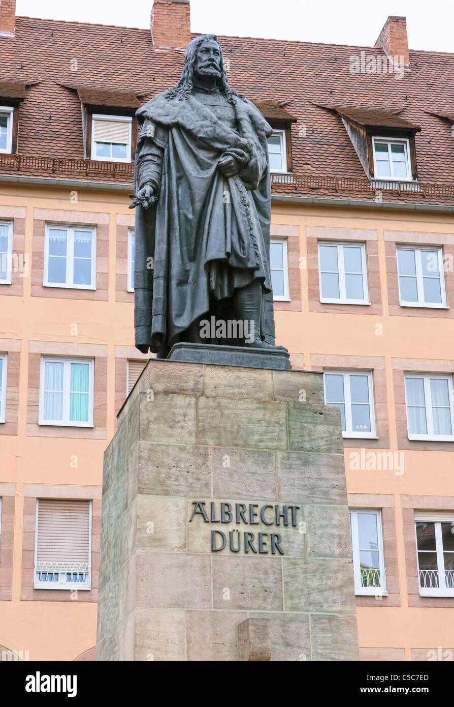 Albrecht Dürer Skulptur Nürnberg Bayern Deutschland Stockbild