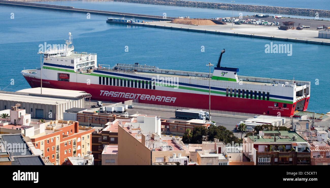 Superschnelle Canarias M/F Stockbild