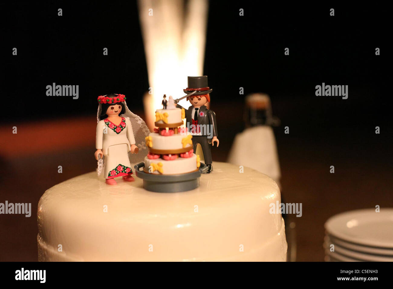 Lego Hochzeitstorte Oben Stockfoto Bild 37818287 Alamy