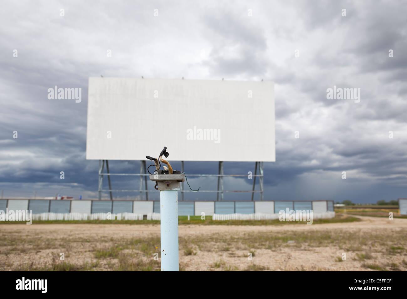 Drive-in-Kino aufgegeben.  Winnipeg, Manitoba, Kanada. Stockbild