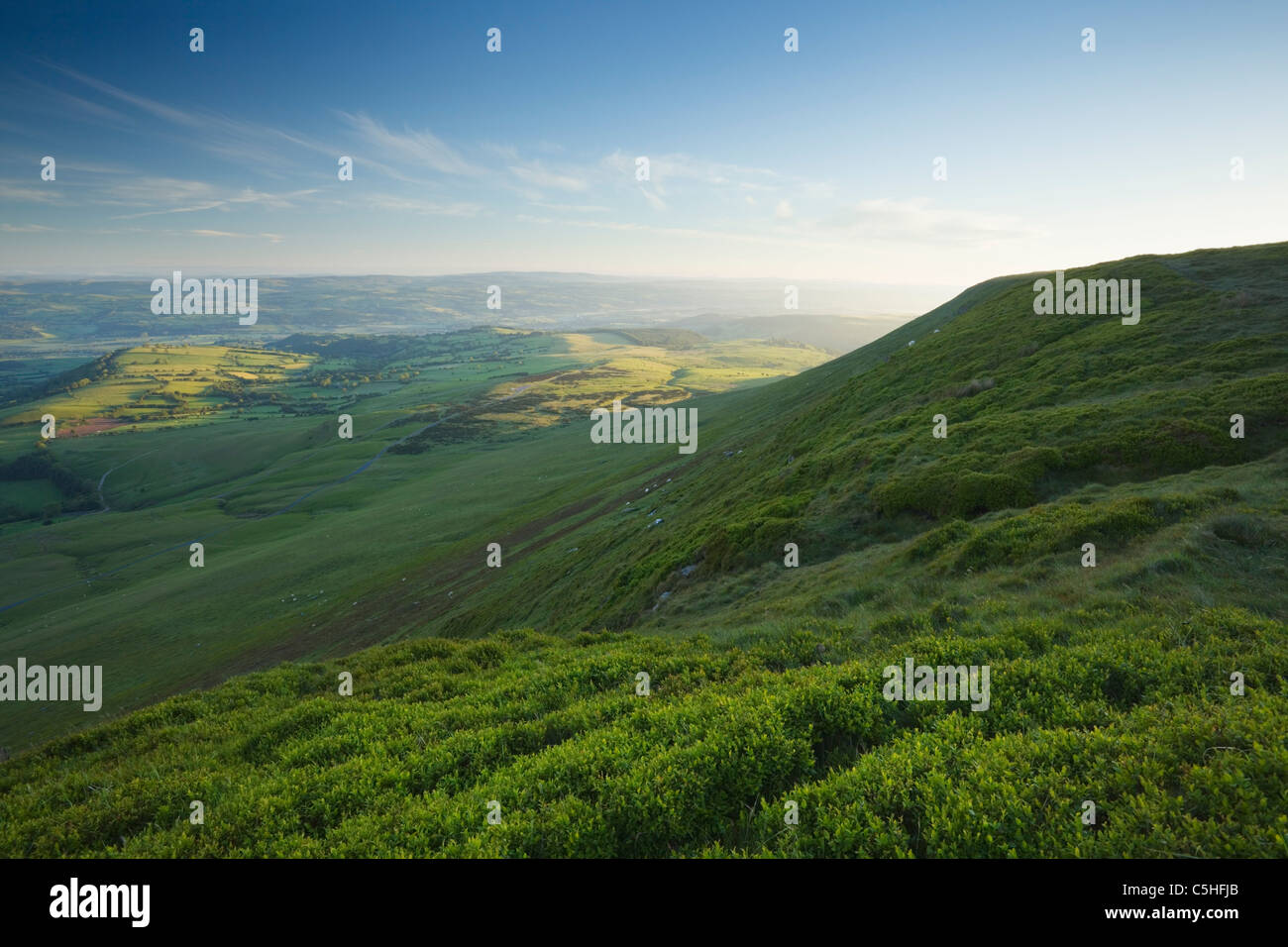 Heu-Bluff in den Black Mountains. Brecon Beacons National Park. Powys. Wales. VEREINIGTES KÖNIGREICH. Stockbild