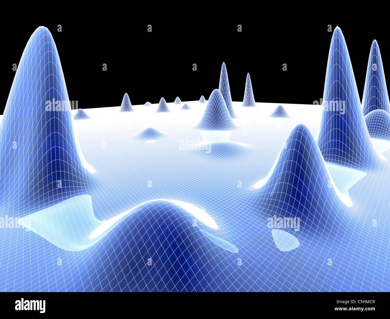 3D Oberfläche graph Stockbild