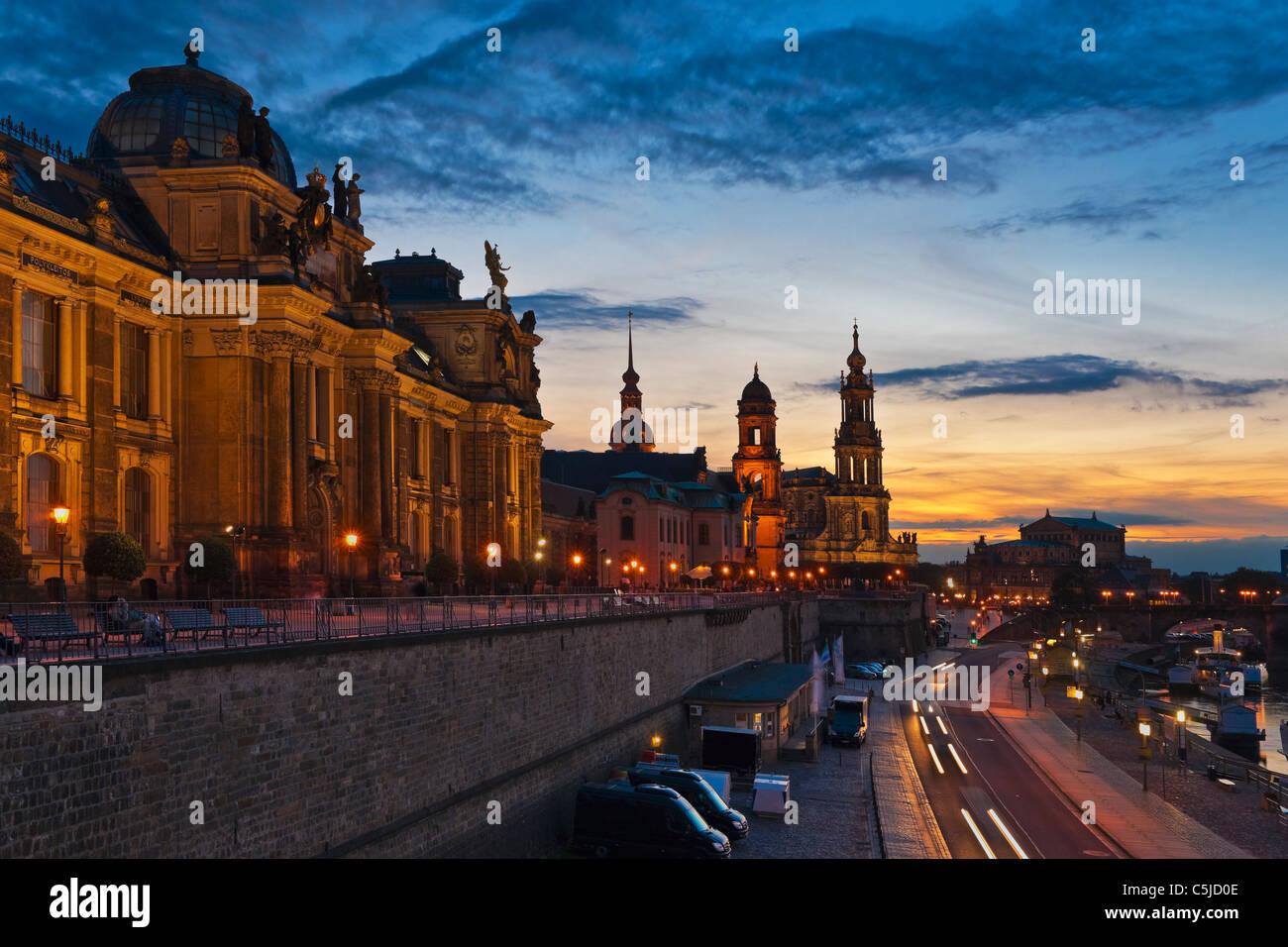Brühlsche Terrasse Dresden   Der Brühlschen Terrasse, Dresden ...