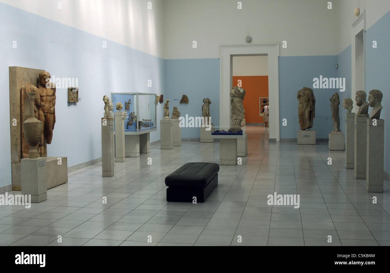 Museum der bildenden Künste. Innenraum. Budapest. Ungarn. Stockbild