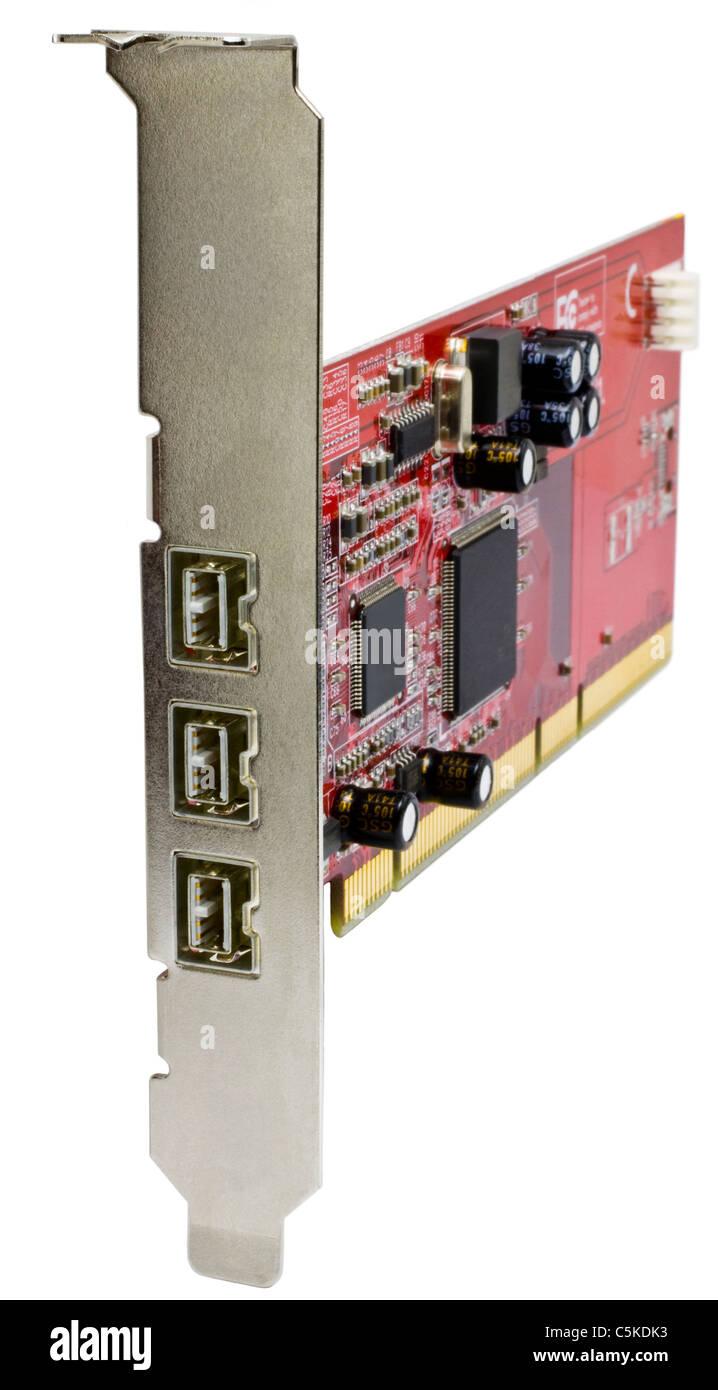 FireWire-800-Karte für Server-Computern Stockfoto, Bild: 37921831 ...