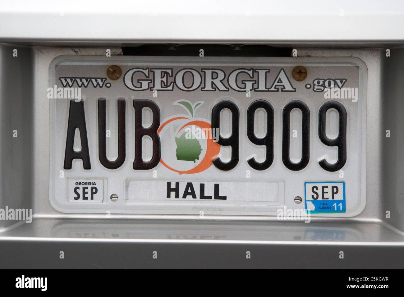 Us Car Number Plate Stockfotos & Us Car Number Plate Bilder - Alamy