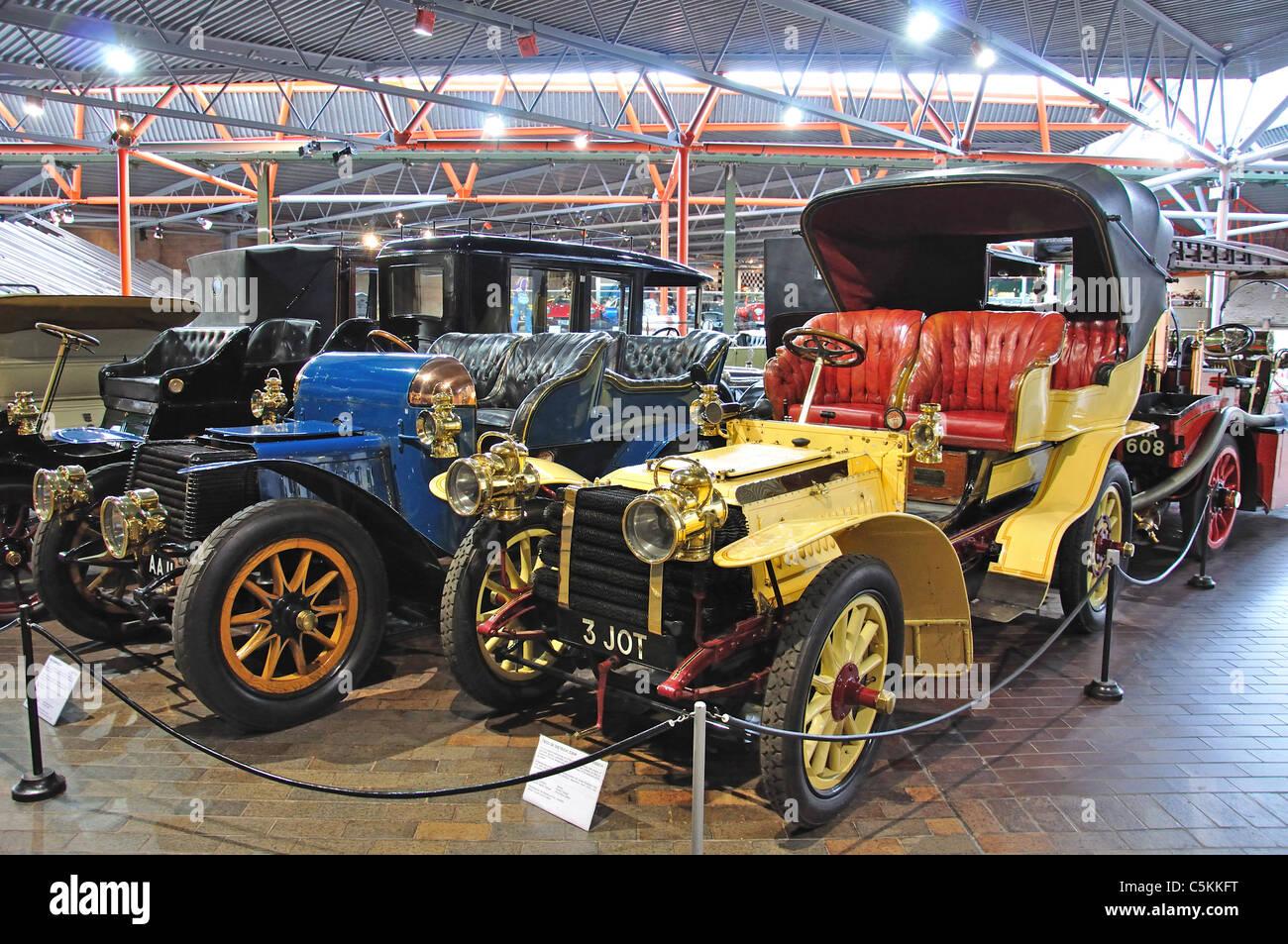 1903 Französisch DeDietrich 24hp Touring Cars, The National Motor Museum, Beaulieu, New Forest, Hampshire, Stockbild
