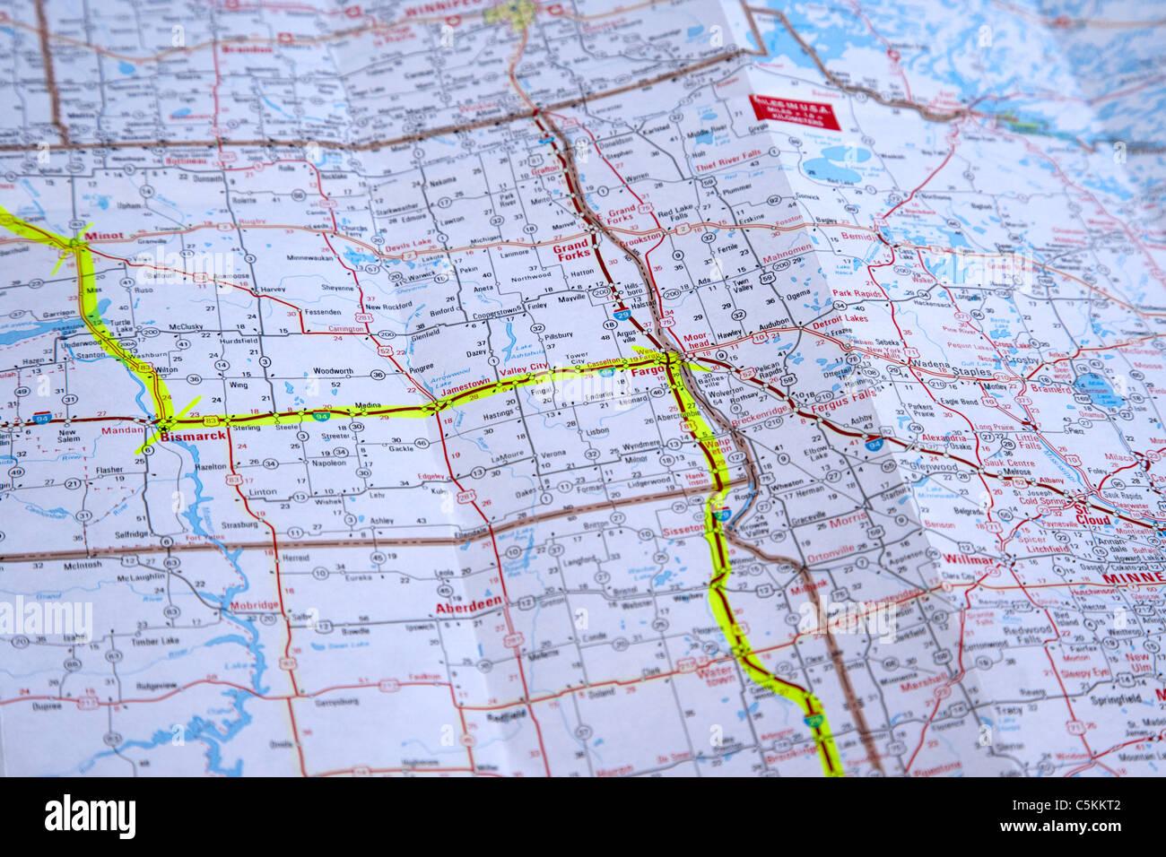 Karte Usa Westen.Karte Der Staaten Im Mittleren Westen Der Usa Mit Route Geplant In