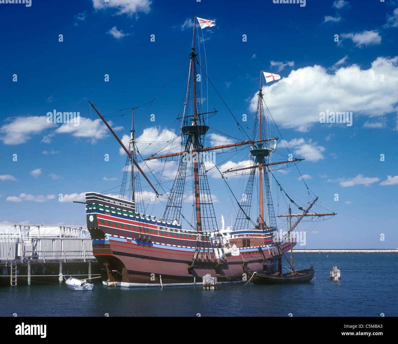 Mayflower II Replica Schiff. Stockbild