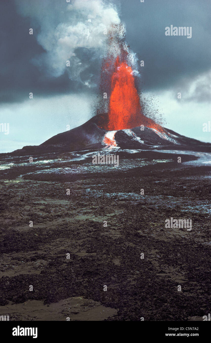 Mauna O'o Ausbruch, Kilauea-Vulkan, Hawaii Volcanoes National Park. Stockbild