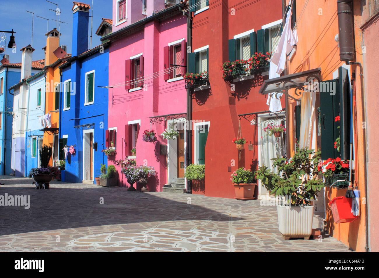 Häuser Italien bunte häuser in burano insel venedig italien stockfoto bild
