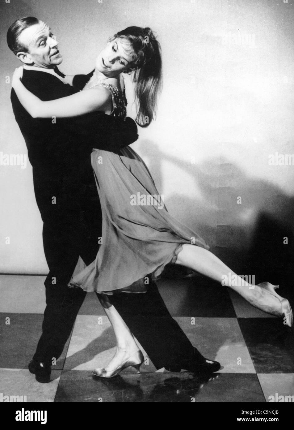 Fred Astaire, Petula Clark Stockbild