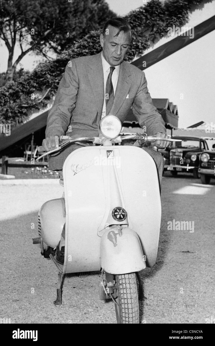 Gary Cooper, 1956 Stockbild