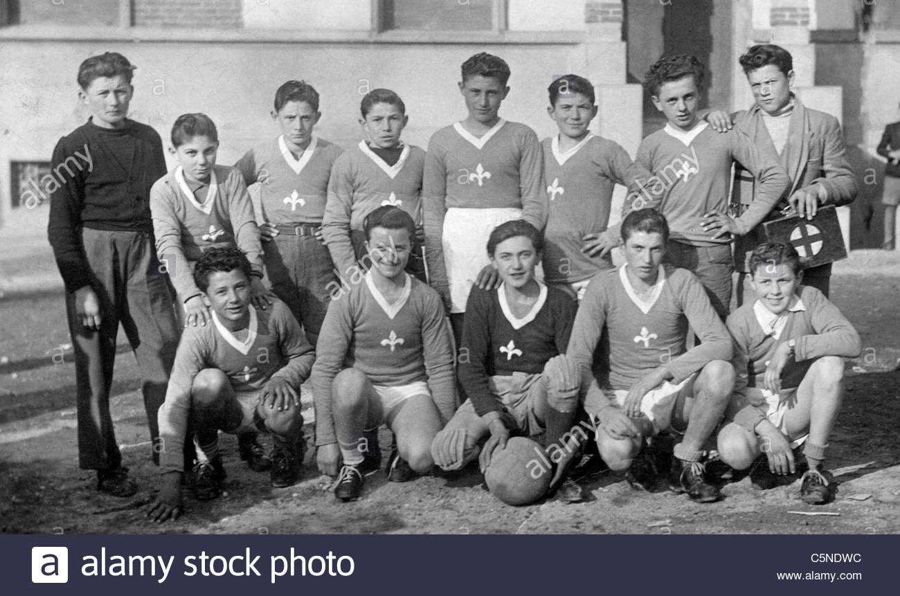 Team footbaall casorezzo, 40s-50s Stockbild