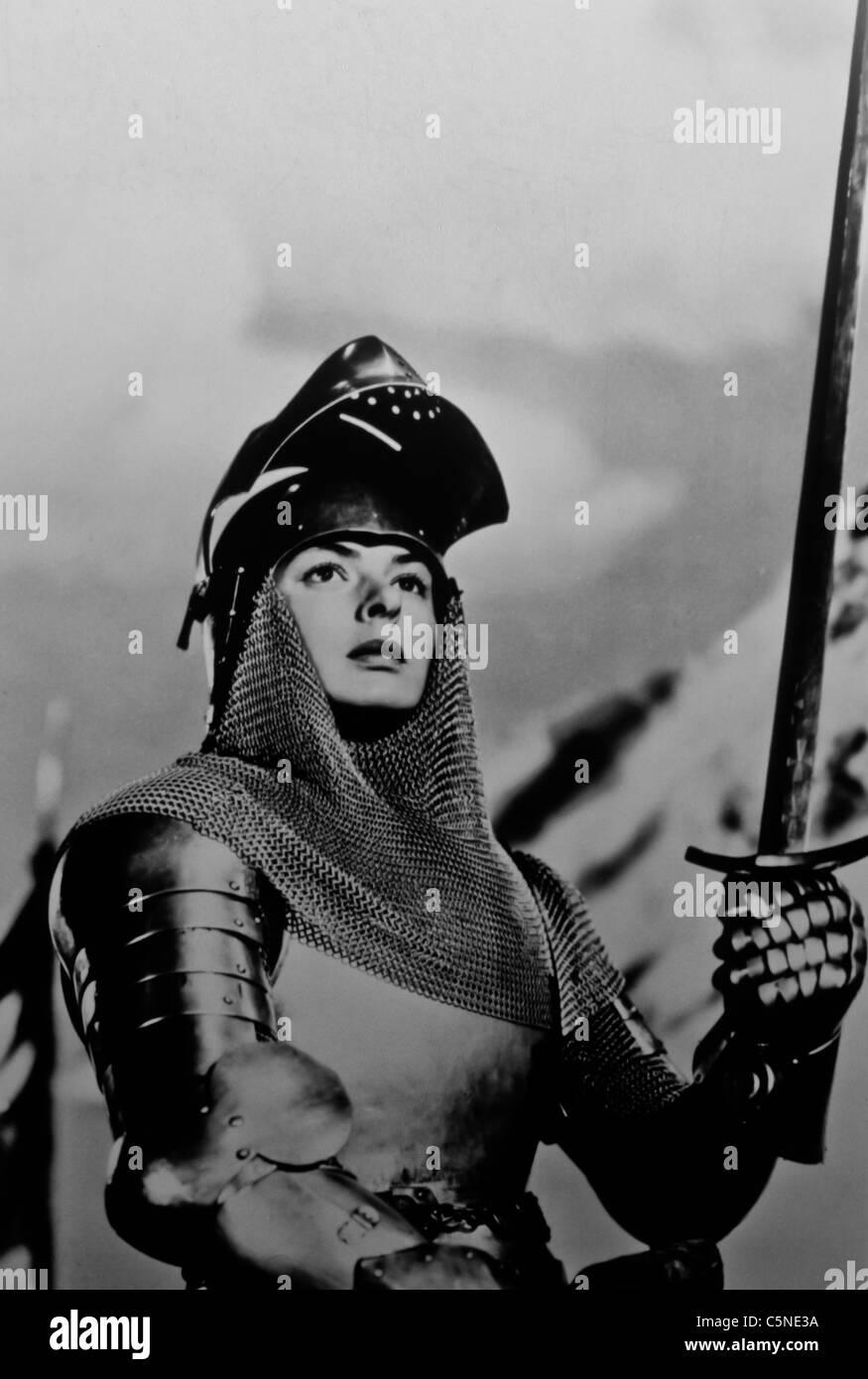 Ingrid Bergman in Jeanne d ' Arc an den Pfahl-1954 Stockbild