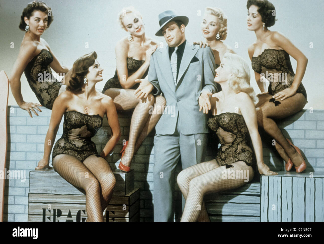 Marlon Brando, Guys and Dolls 1955 Stockbild