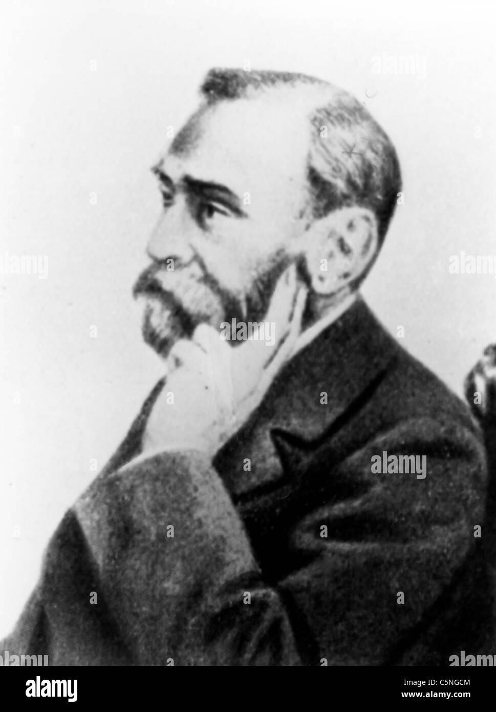 Alfred Bernhard Nobel, 1896 Stockbild