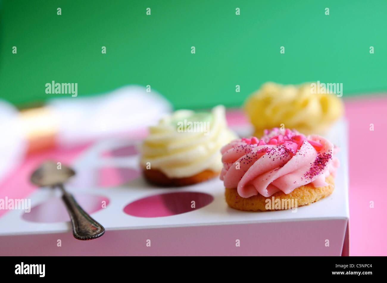 Verschiedene Muffins Stockbild