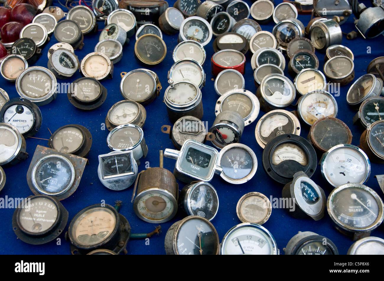 Autos-Teile-Antiquitäten. Stockbild