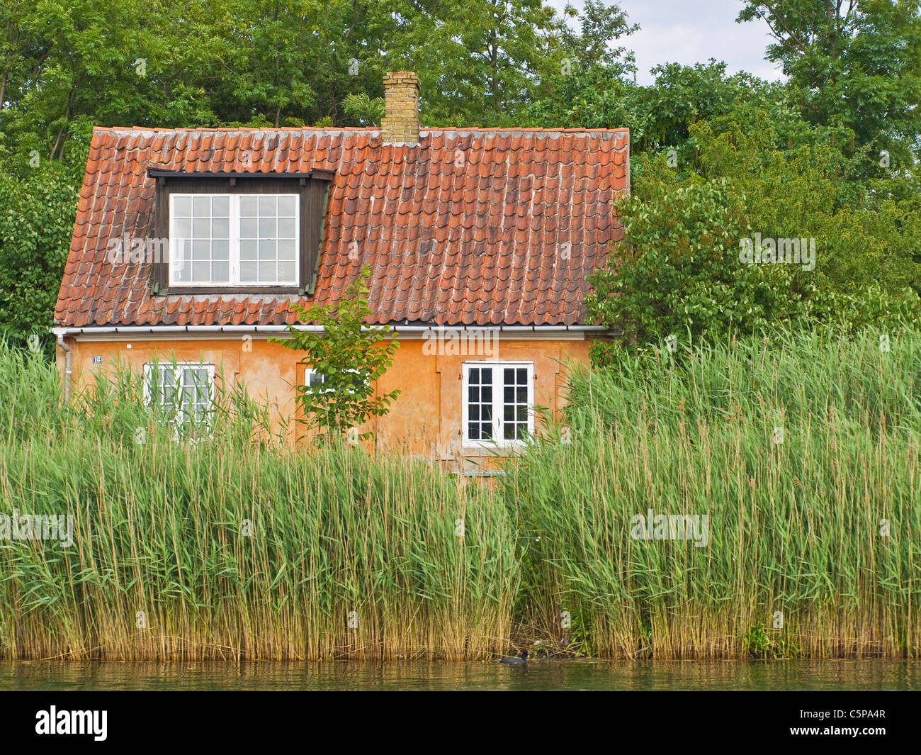 Haus Im Schilf, Kopenhagen | Haus im Reet, Copenhagen Stockbild
