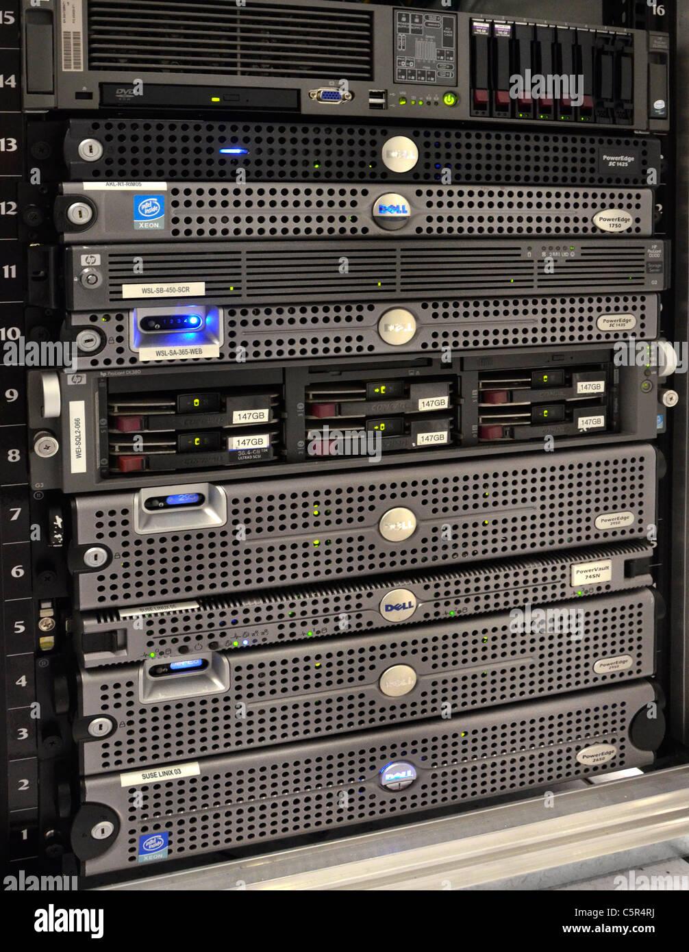 HP Proliant und Dell Server zerbrach in Computer Raum Serverschränke ...