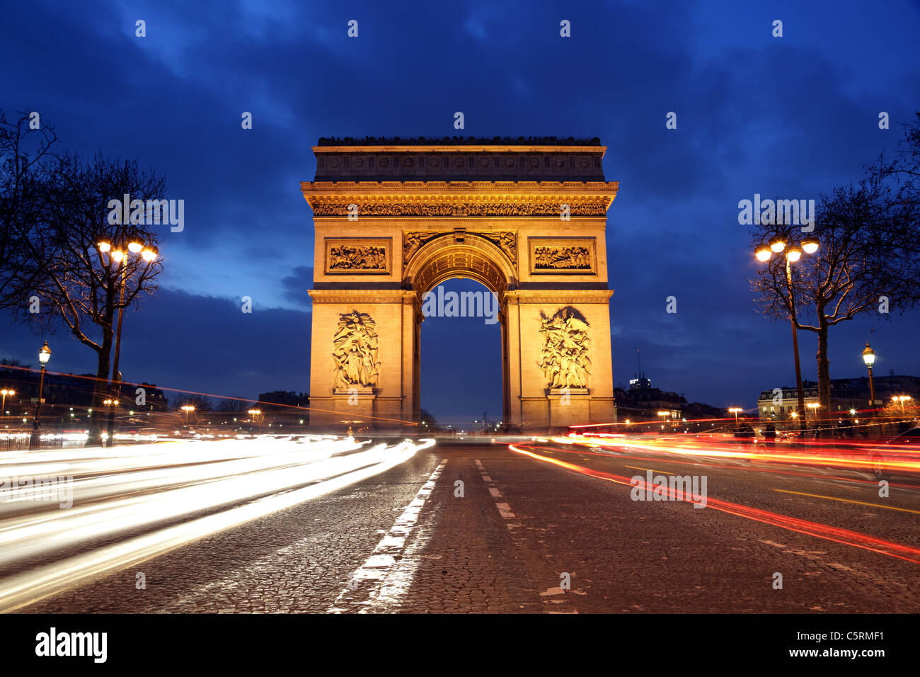 Arc de Triomphe, Paris Stockbild